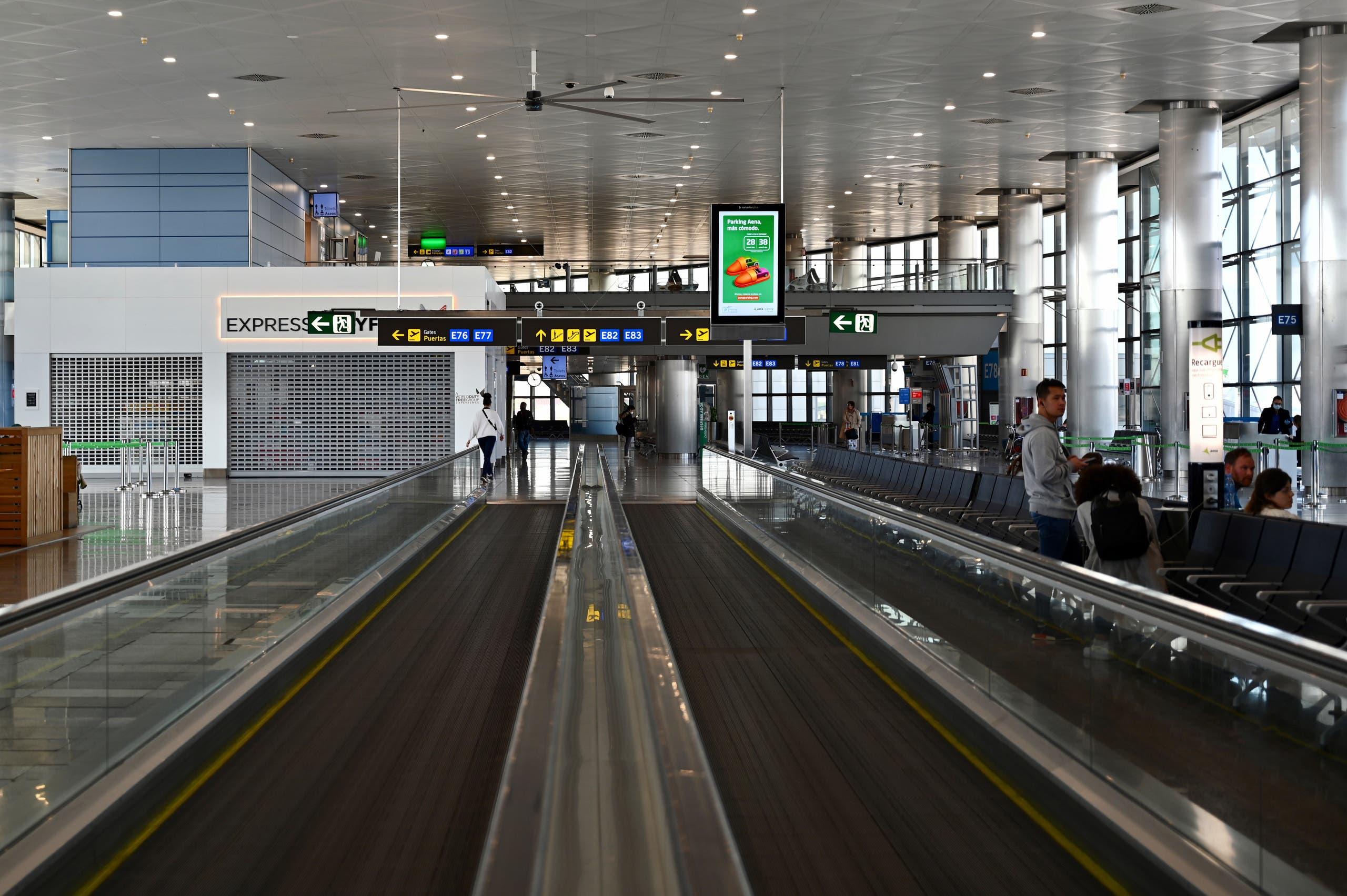 من مطار مدريد (فرانس برس)