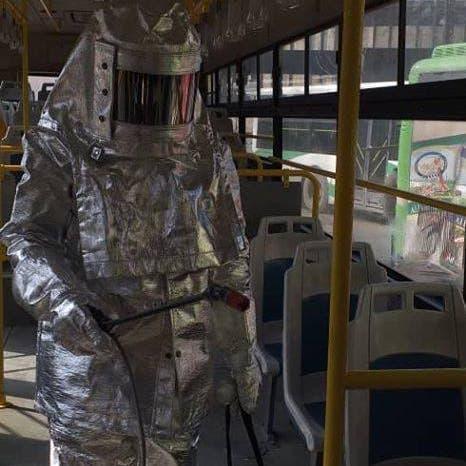 """""""كائن فضائي"""" يكافح كورونا في سوريا ويعقّم الباصات!"""
