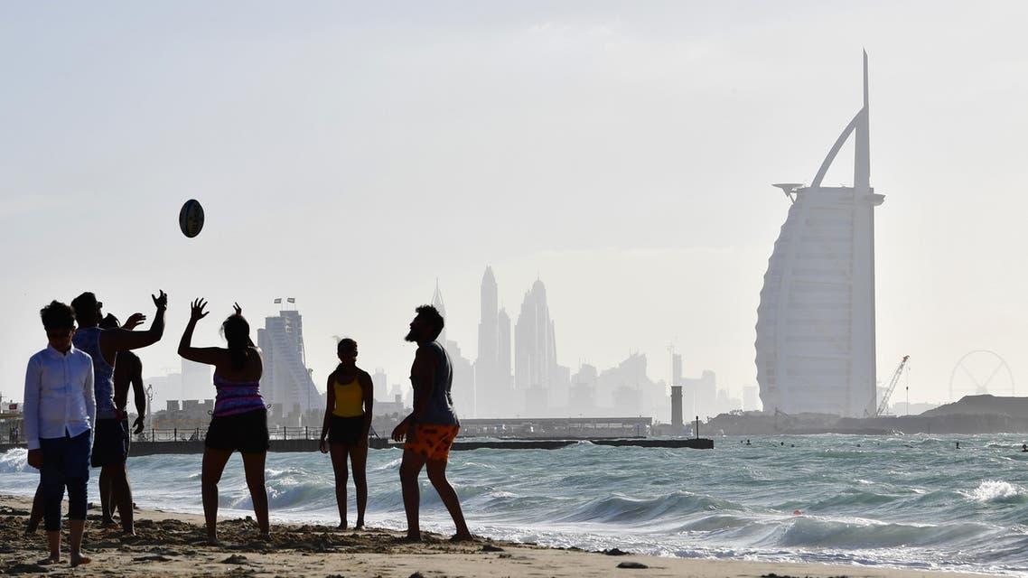 Dubai beach ball Burj al Arab - AFP