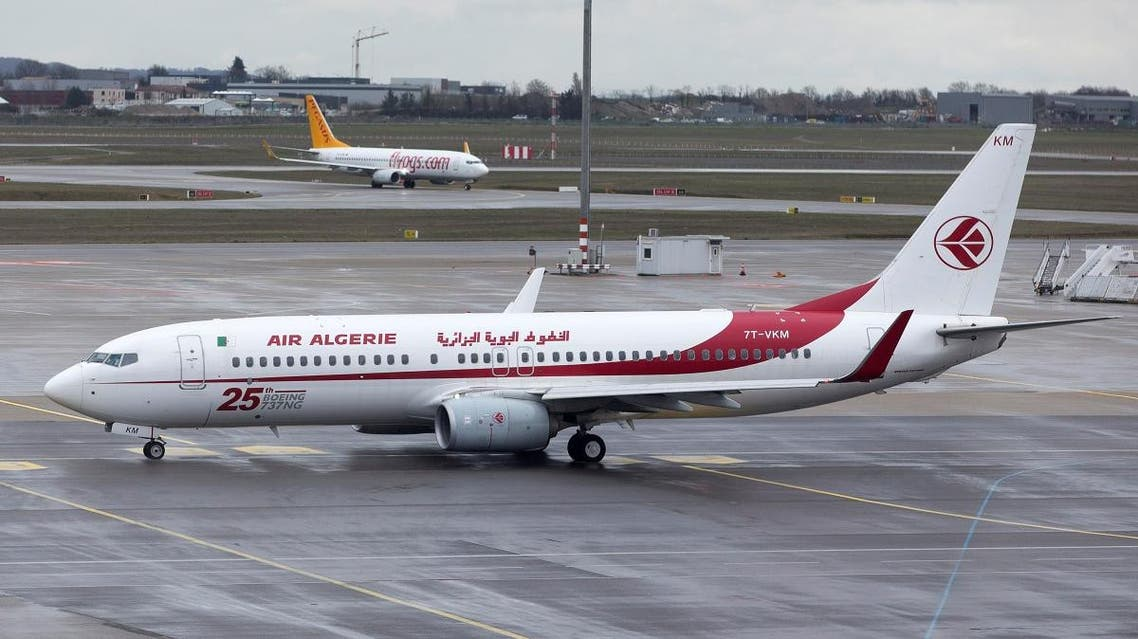 An Air Algerie Boeing 737-8b6 plane is seen on the tarmac at the Lyon-Saint-Exupery airport in Colombier-Saugnieu near Lyon, France, March 14, 2019. (Reuters)