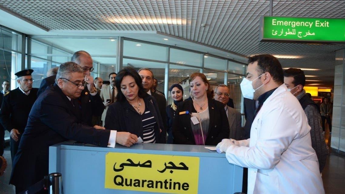 مطار القاهرة كورونا مصر