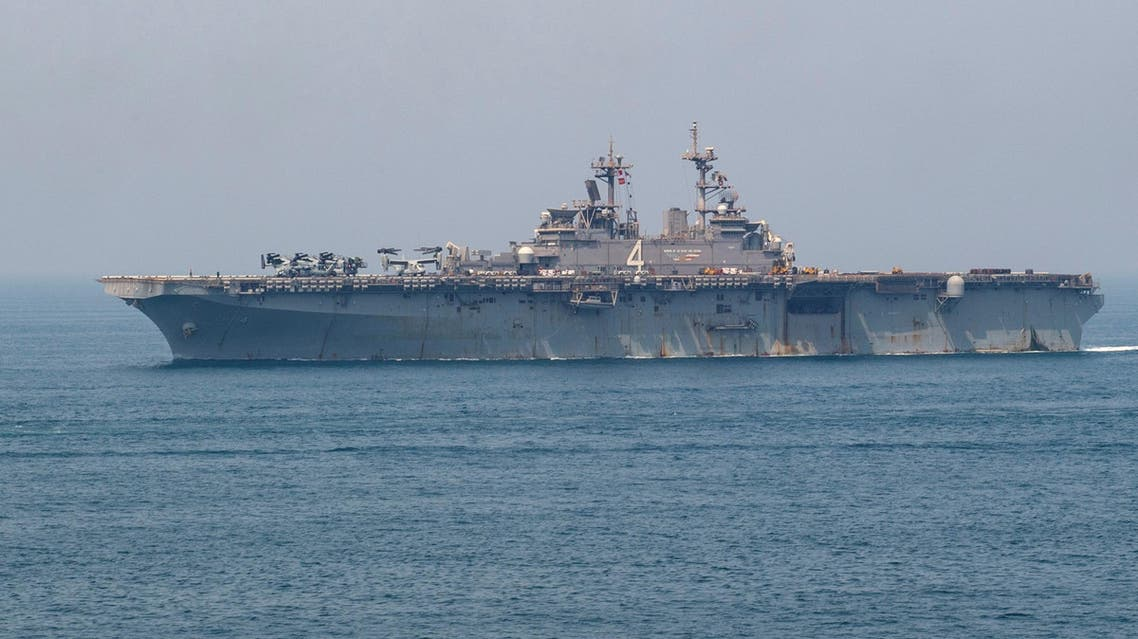 Amphibious assault ship USS Boxer transits the Gulf, according to the US Navy in this picture released on July 24, 2019. (File photo: Reuters)