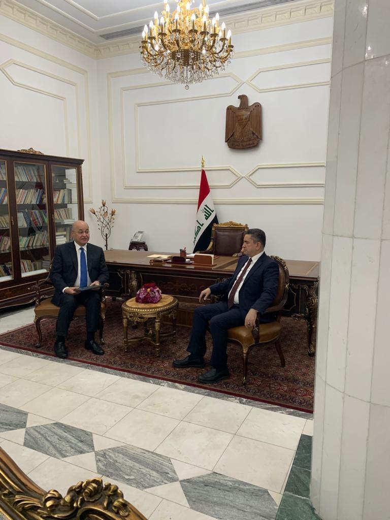 عدنان الزرفي والرئيس العراقي