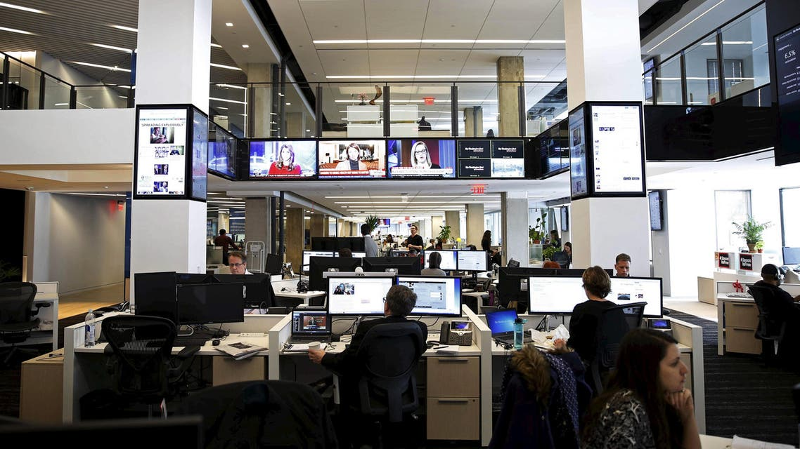 Newsroom floors are seen during grand opening of Washington Post in Washington. (Reuters)