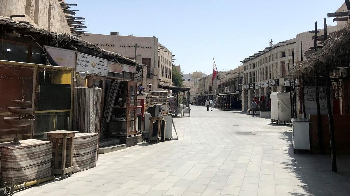 A view shows Souq Waqif almost empty, following the outbreak of coronavirus, in Doha. (Reuters)