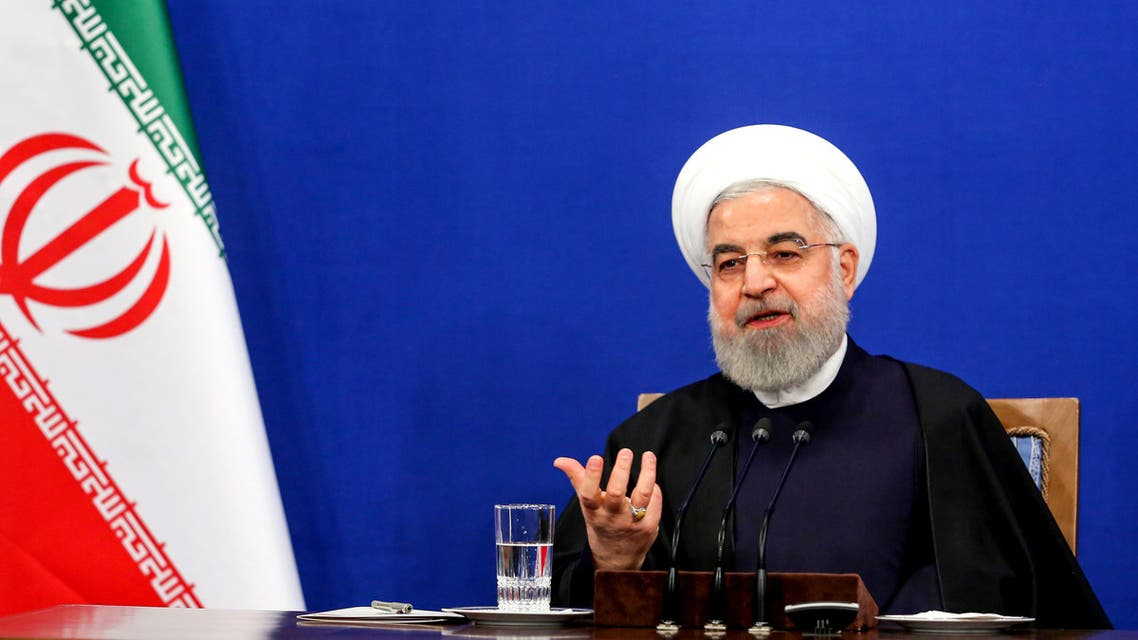 Iranian President Hassan Rouhani speaks during a news conference in the capital Tehran, on February 16, 2020. Iran's President Hassan Rouhani ruled out resigning and vowed to see out his term, even as he admitted he had offered to step aside twice since being elected. Speaking ahead of a general election next Friday, Rouhani also appealed to voters to turn out despite the fact that many moderate and reformist candidates were disqualified from the race. Rumours have swirled in Iran recently that the 71-year-old, whose second and last term ends next year, had been planning to quit, but his office denied the reports.