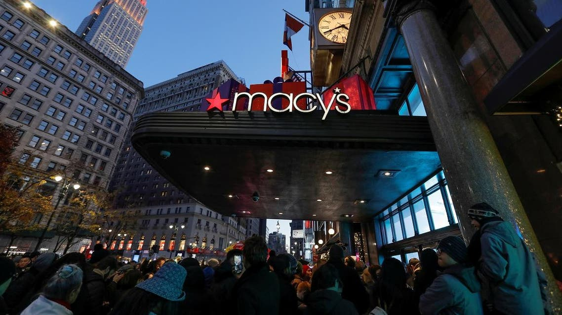 People wait to enter Macy's Herald Square ahead of early opening for the Black Friday sales in Manhattan, New York City, U.S., November 28, 2019. (Reuters)