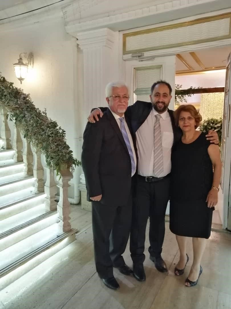 Pastor Victor Bet-Tamraz, left, with his son and wife Shamiram in Iran. (Supplied by Dabrina Tamraz)