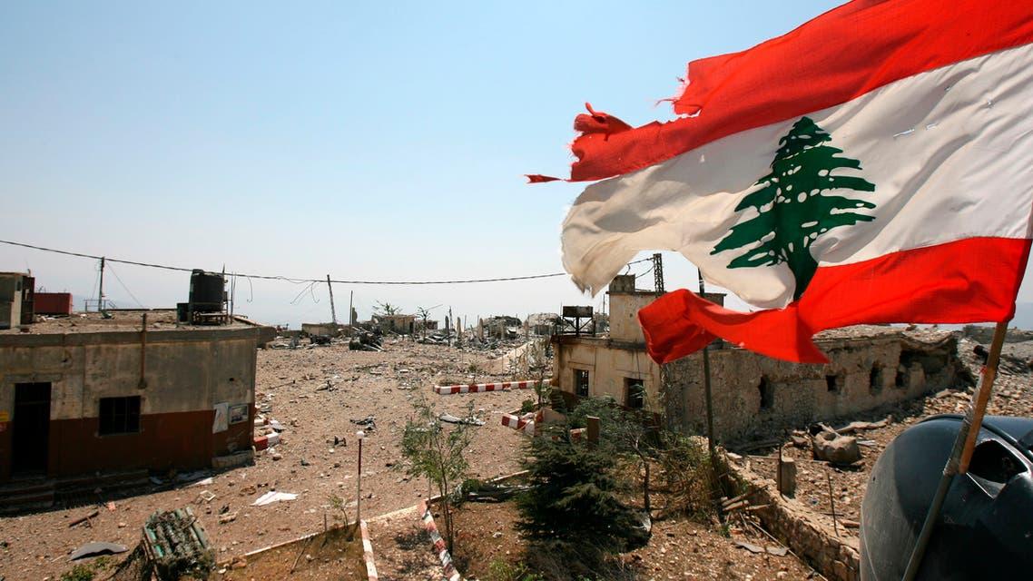 A Lebanese flag flies over Khiam prison, in the southern town of Khiam, Lebanon. (AP)