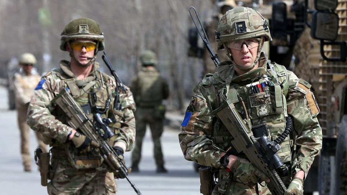 British soldiers in Afghanistan, March 2020. (Reuters)