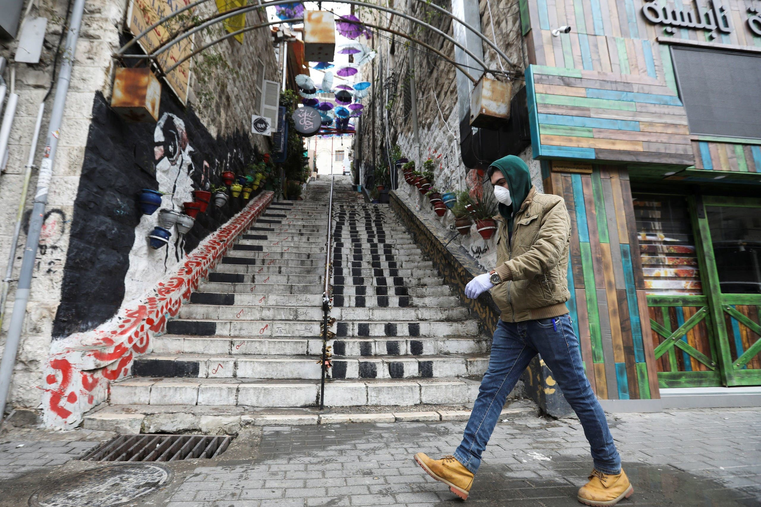 إجراءات تقييد الحركة في مواجهة كورونا في الأردن