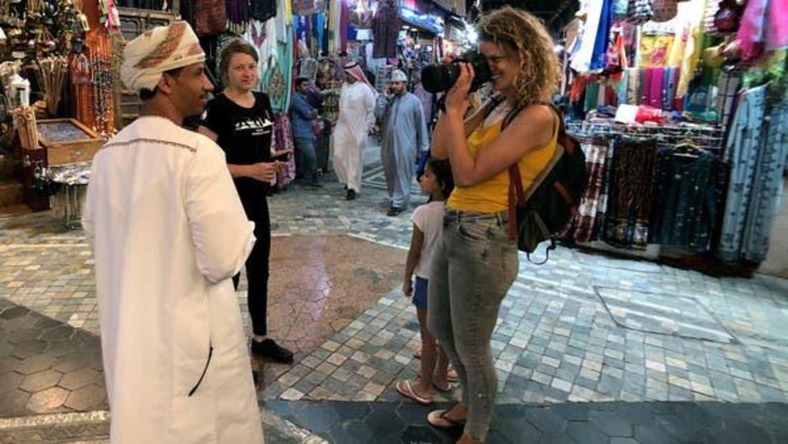 A European tourist in Oman