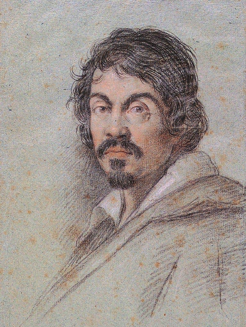 رسم تخيلي للرسام الإيطالي كارافاجيو