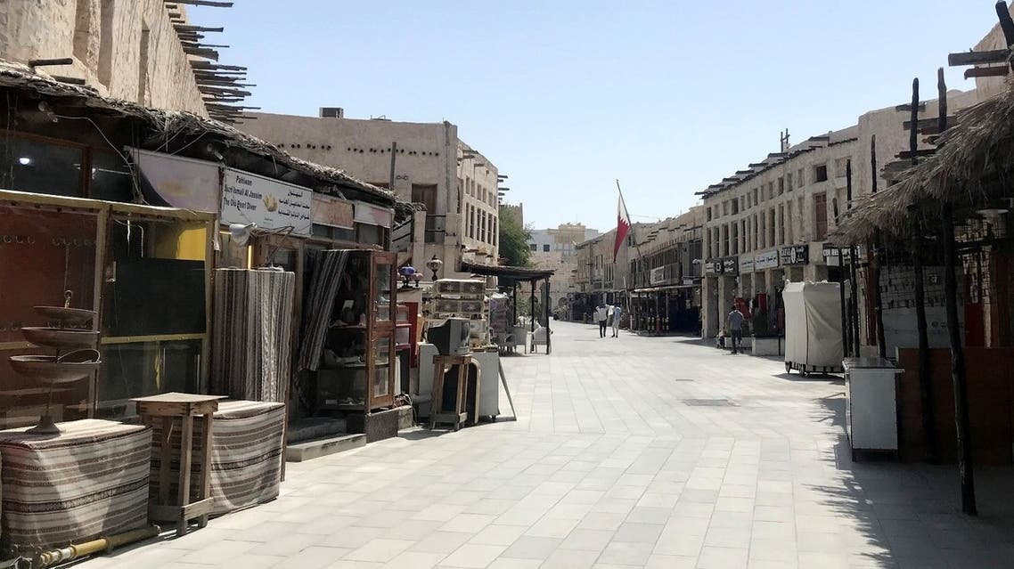 A view shows Souq Waqif almost empty, following the outbreak of coronavirus, in Doha, Qatar March 17, 2020. (Reuters)