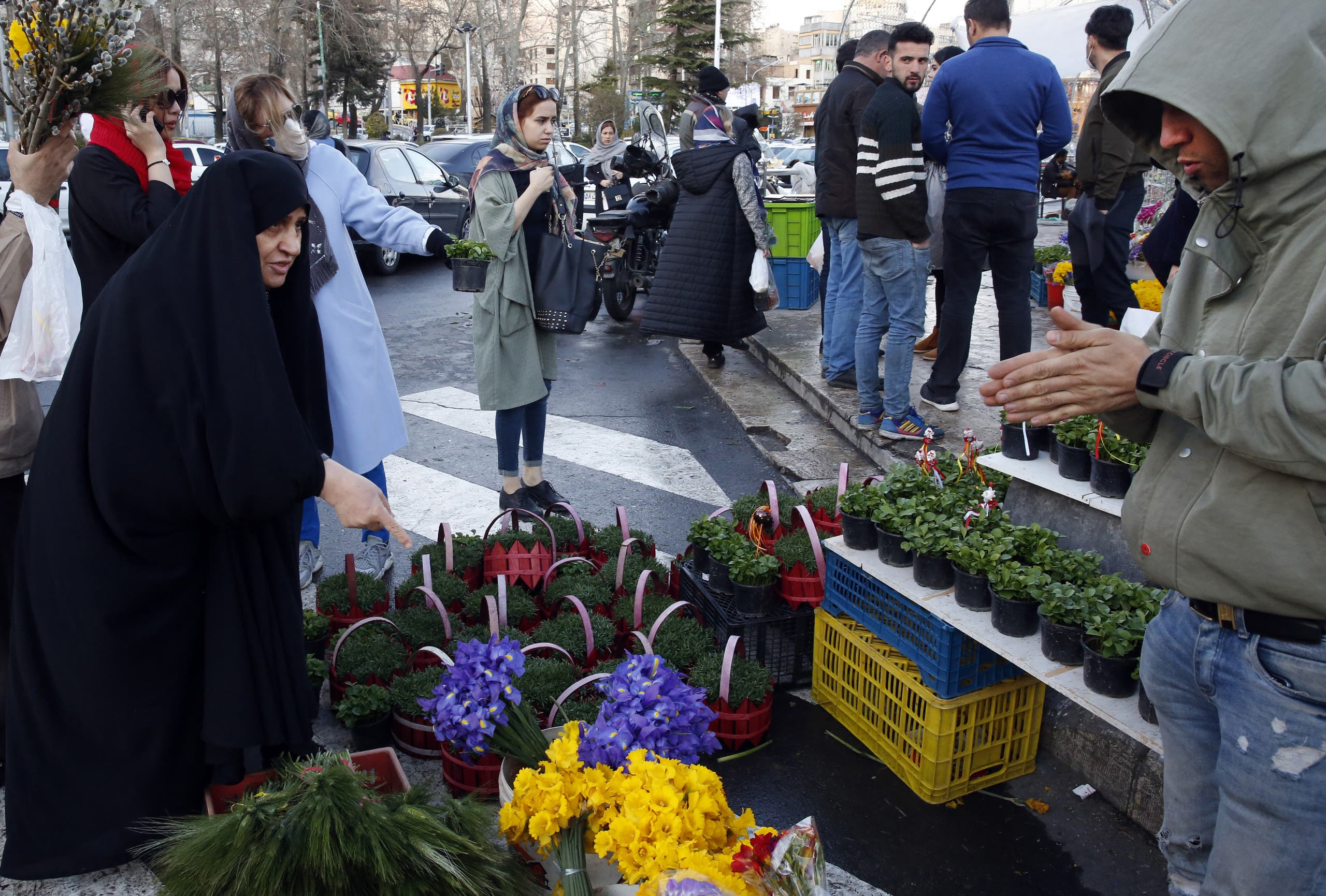 بازار تجریش در تهران  (19 مارس فرانس برس)