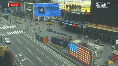 شاهد.. كورونا يخلي ساحة تايم سكوير في نيويورك من المارة