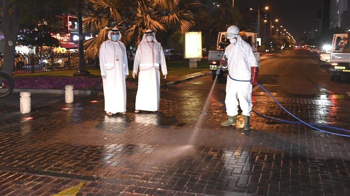 Dubai launches 11-day disinfection campaign to sterilize streets and roads amid coronavirus outbreak. (Dubai Media Office)