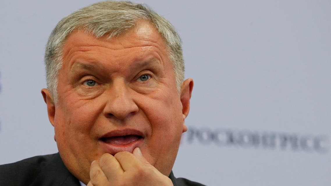 Rosneft Chief Executive Igor Sechin attends a session of the St. Petersburg International Economic Forum (SPIEF), Russia, May 25, 2018. (Reuters)