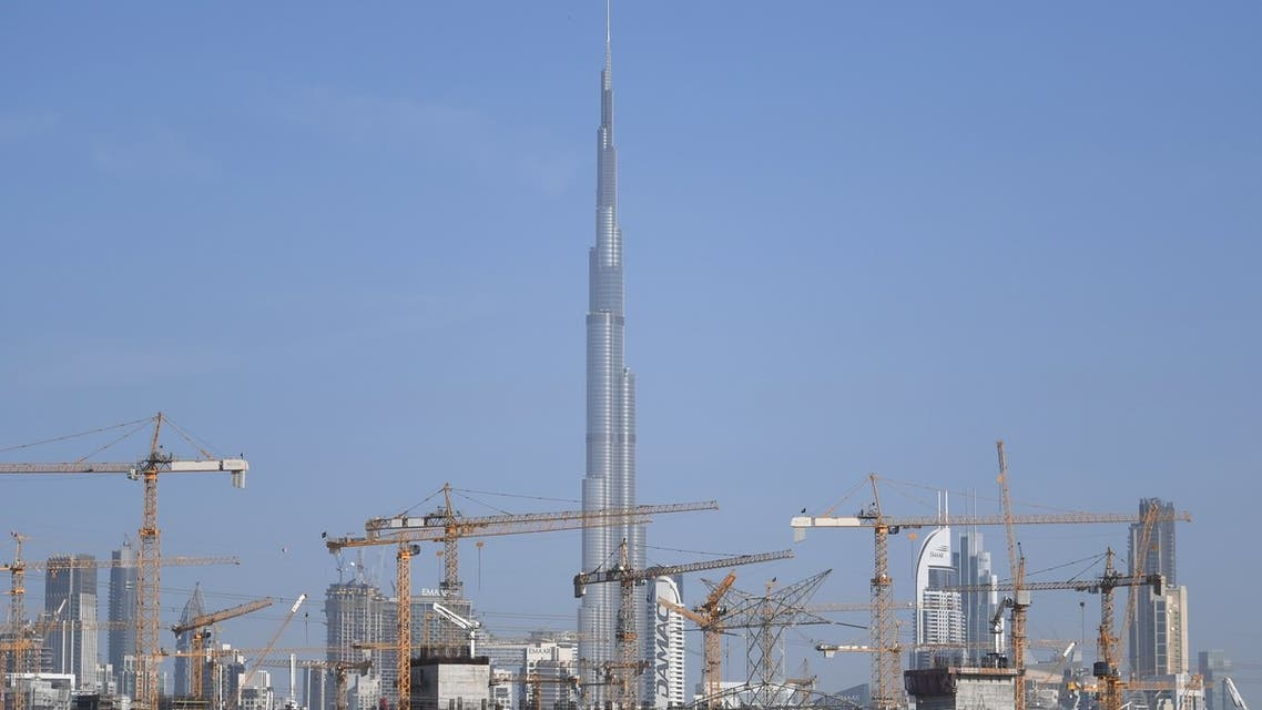 A general view of construction projects in Dubai that require a big number of workers and are currently empty due to fears of the spread of the coronavirus in the Gulf emirate on March 18, 2020. (AFP)