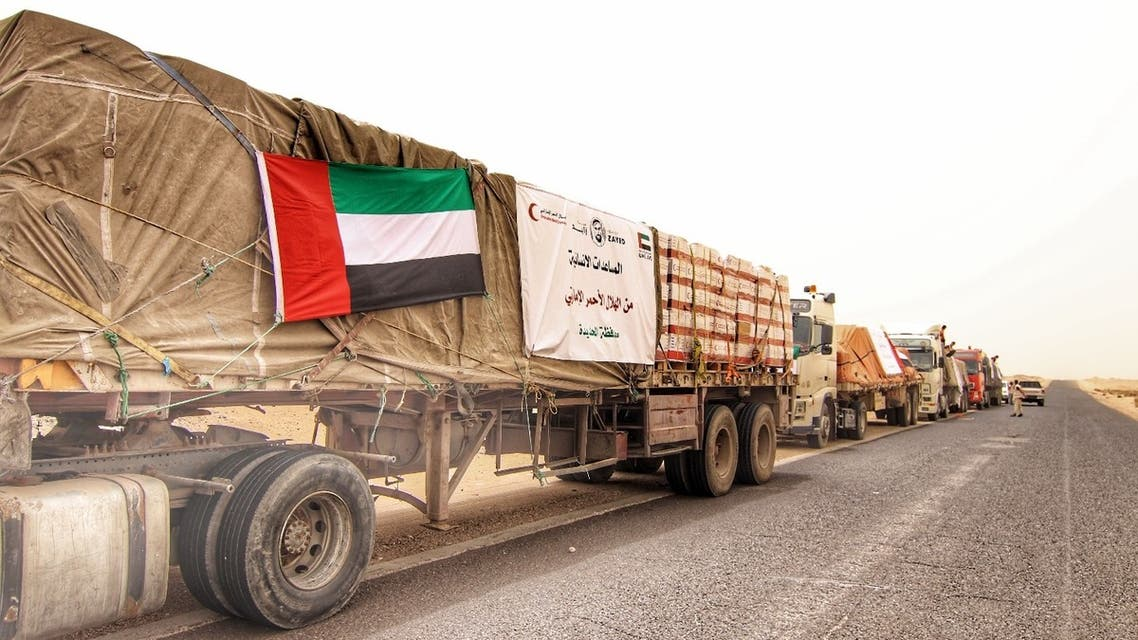 UAE's Emirates Red Crescent aid mission to Yemen. (WAM)