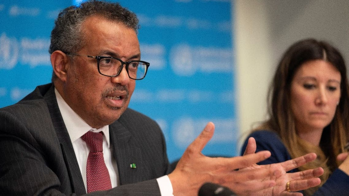 Director-General of World Health Organization (WHO) Tedros Adhanom Ghebreyesus attends a news conference on the outbreak of the coronavirus disease (COVID-19) in Geneva, Switzerland. (Reuters)