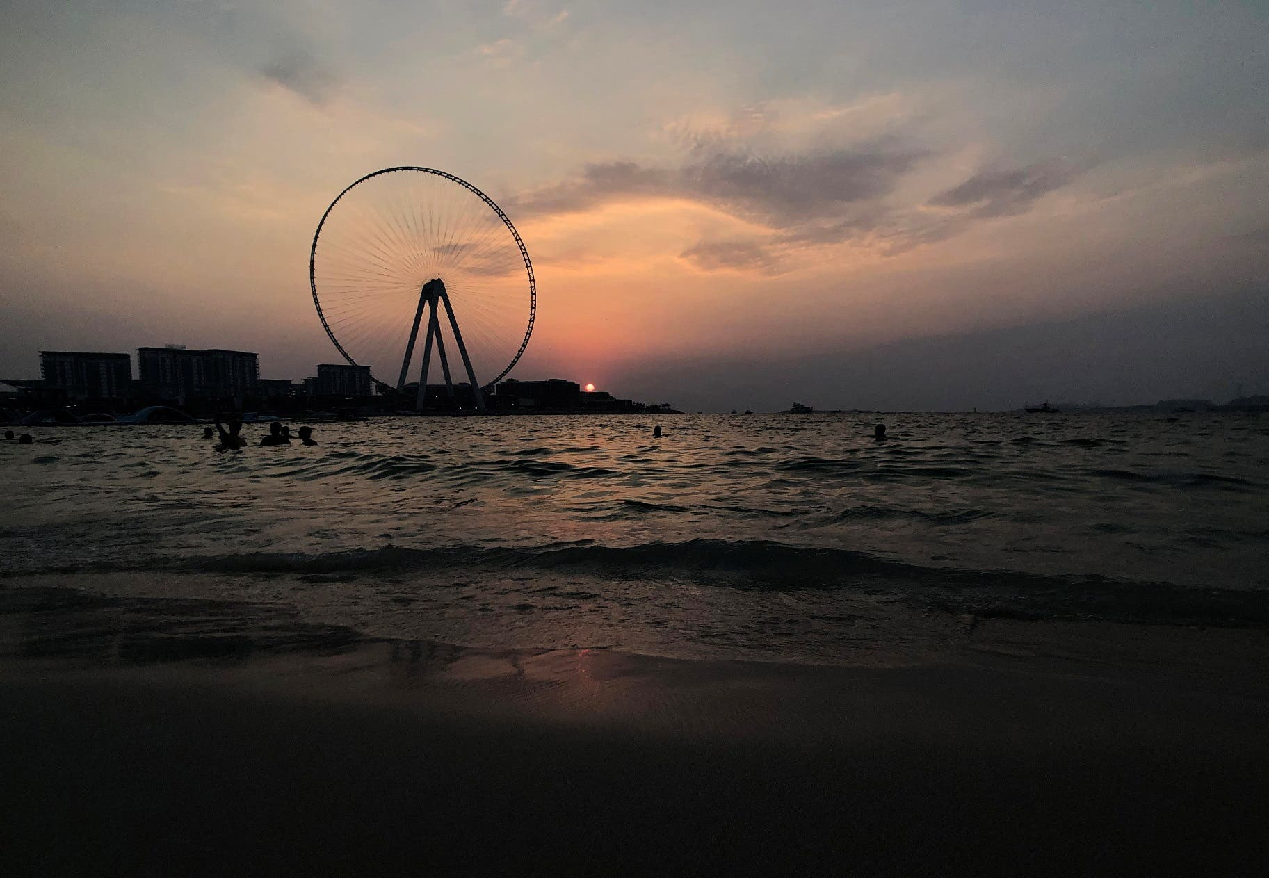 A view of the sunset by the beach at Jumeirah Beach Residence in Dubai, United Arab Emirates. (File photo: Reuters)
