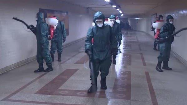 فيديو.. الجيش المصري يعقم الشوارع لمواجهة كورونا