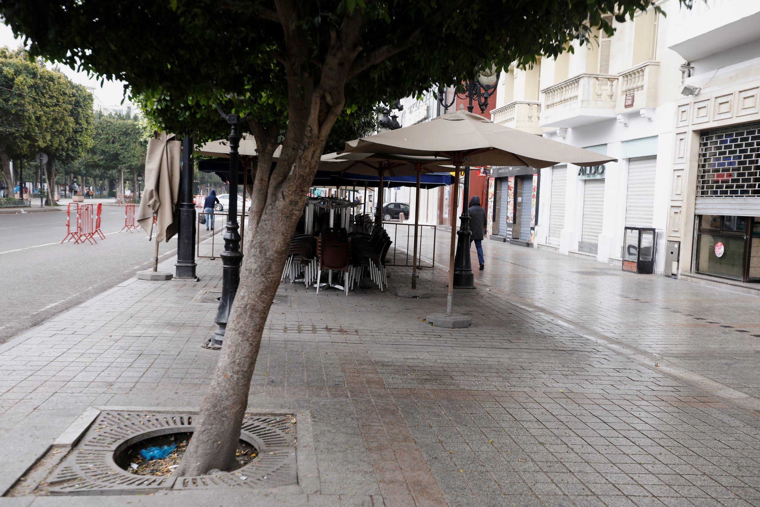 من شارع الحبيب بورقيبة في تونس يوم 21 مارس
