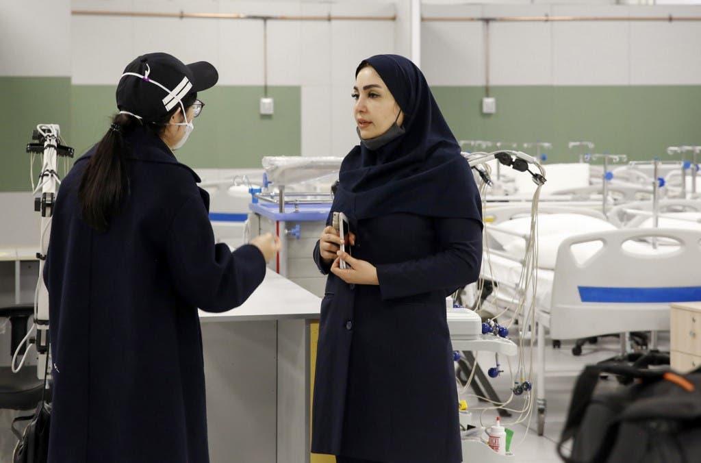من إحدى مستشفيات إيران
