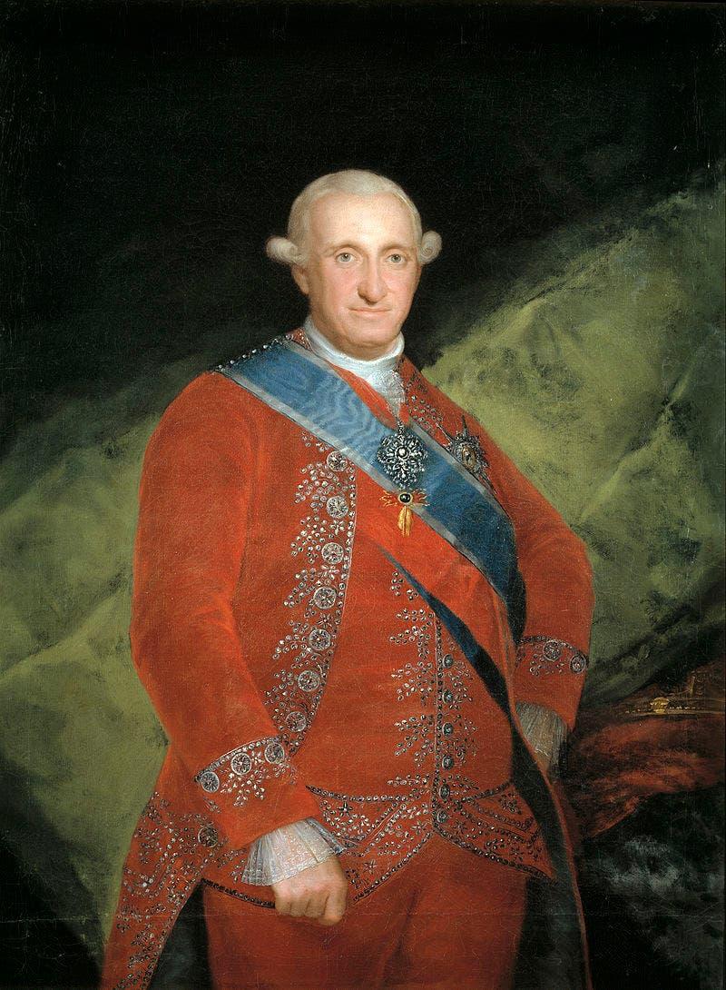 صورة لملك إسبانيا تشارلز الرابع