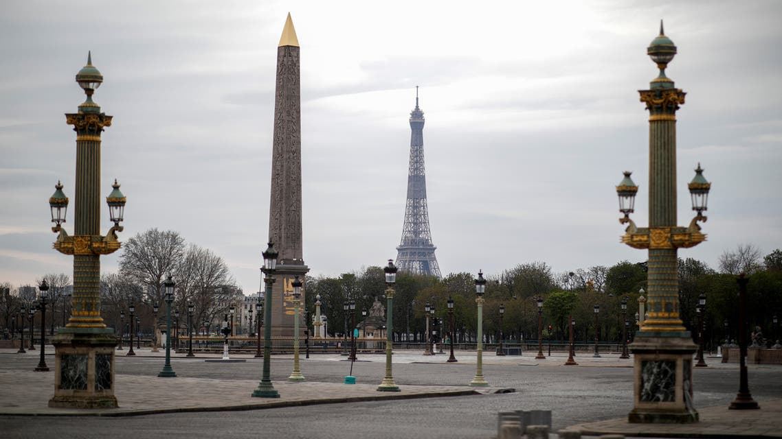 A view shows an empty Place de la Concord in Paris as a lockdown is imposed to slow the rate of the coronavirus disease (COVID-19) spread in France, March 22, 2020. REUTERS/Benoit Tessier