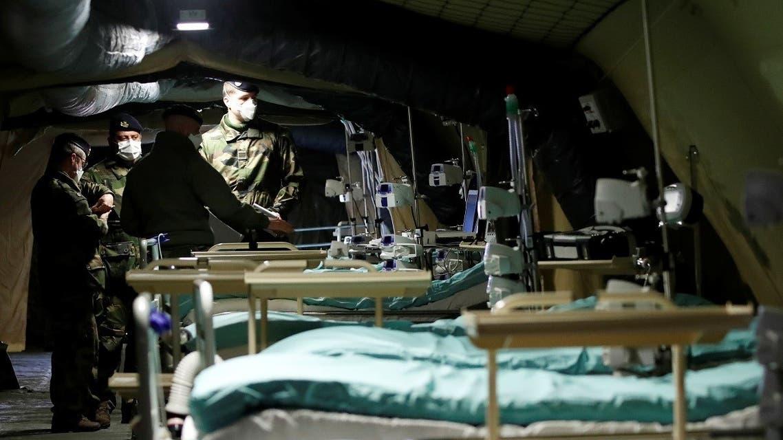 Military field hospital in France amid coronavirus spread