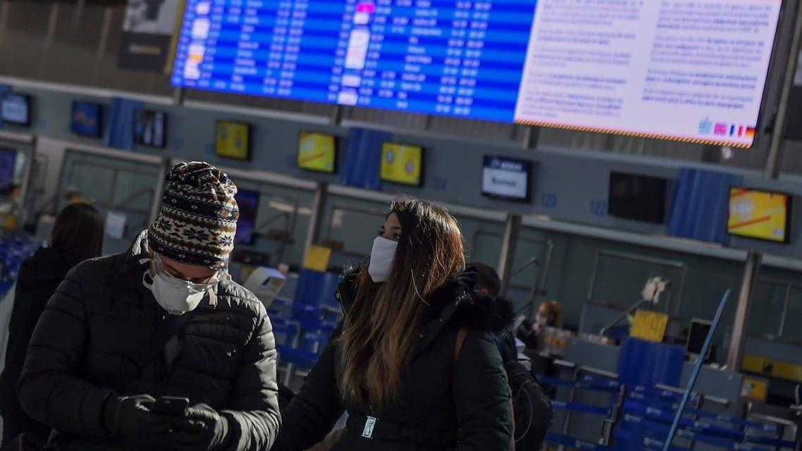 Athens international airport coronavirus