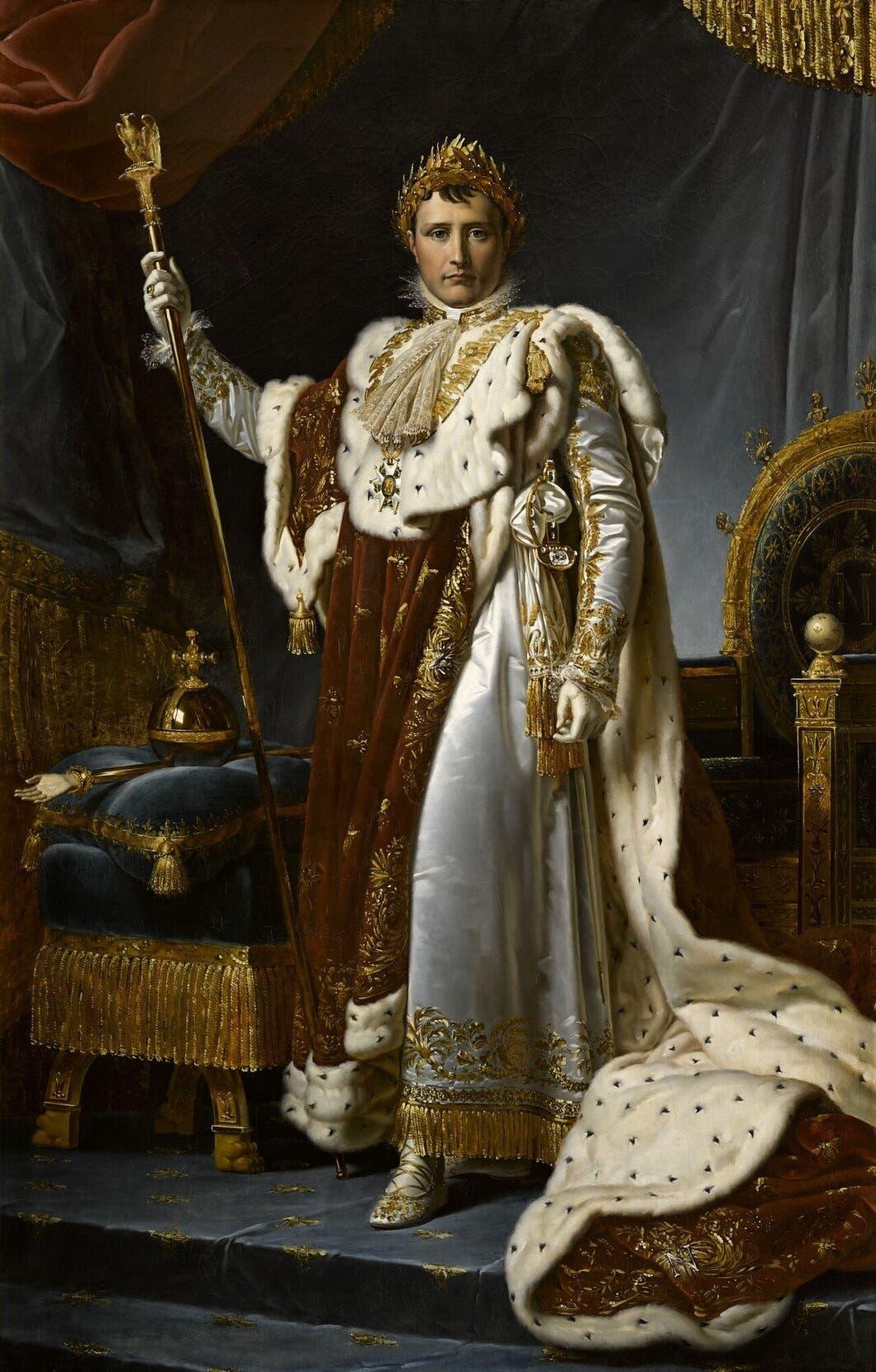 لوحة تجسد الإمبراطور الفرنسي نابليون بونابرت