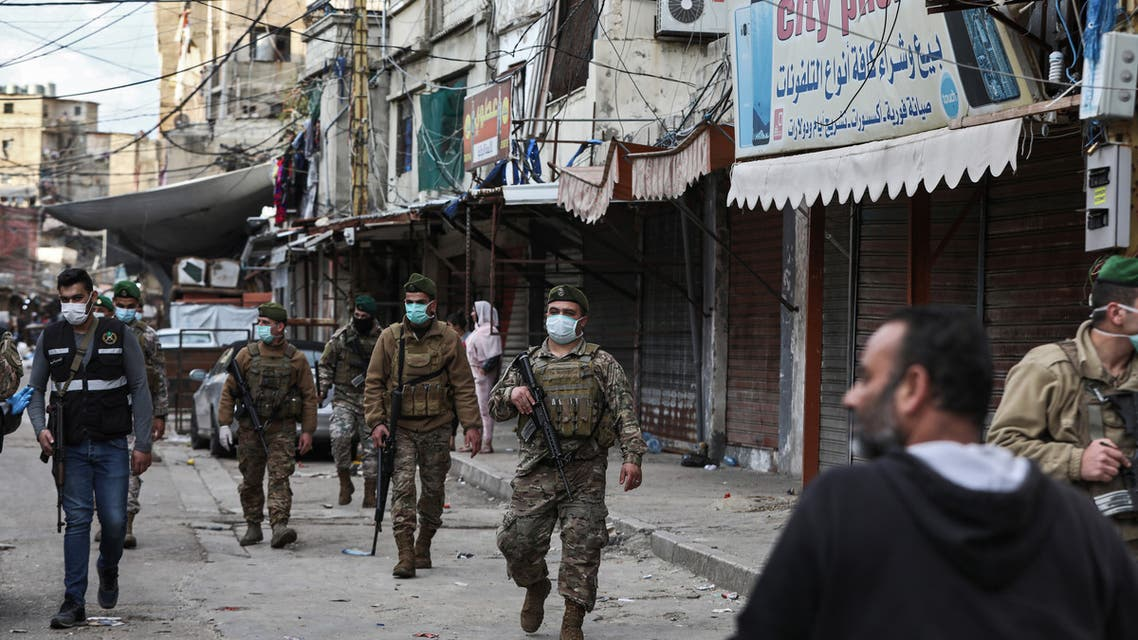 Lebanon curfew soldiers