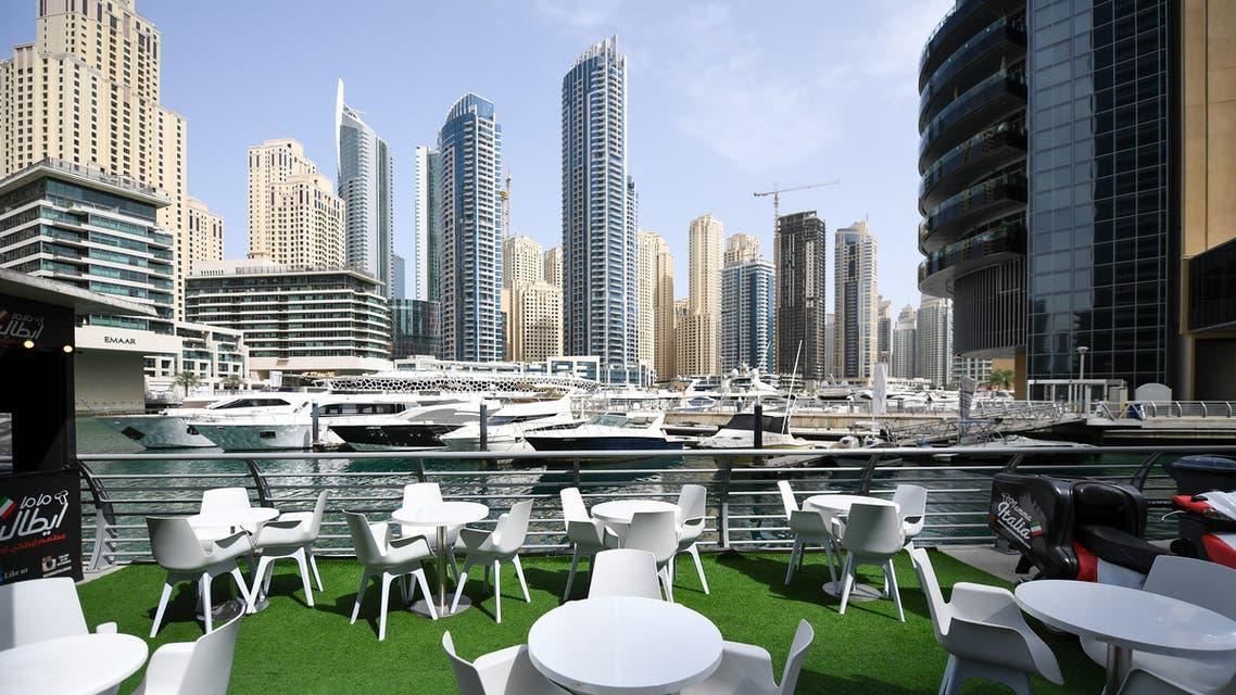 A deserted restaurant in Dubai's marina. (File photo: AFP)