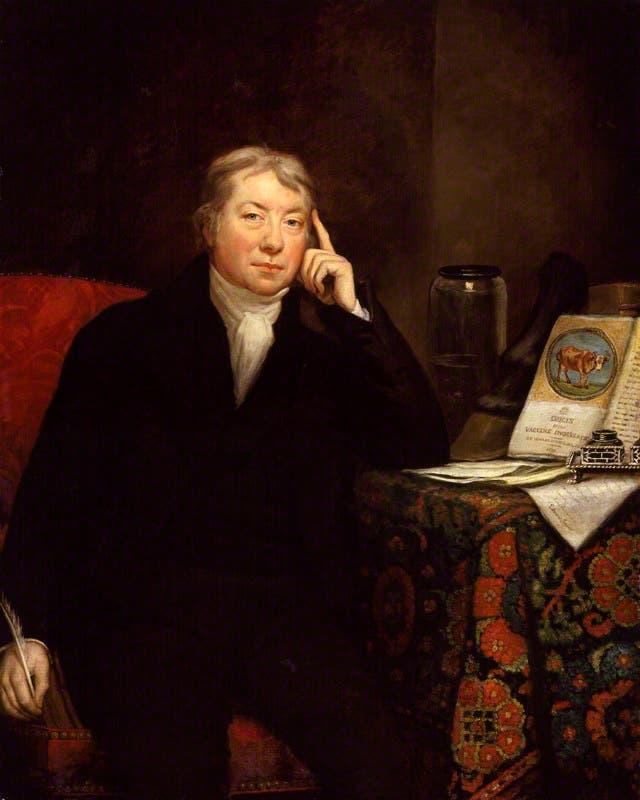 لوحة تجسد شخصية الطبيب ادوارد جينر