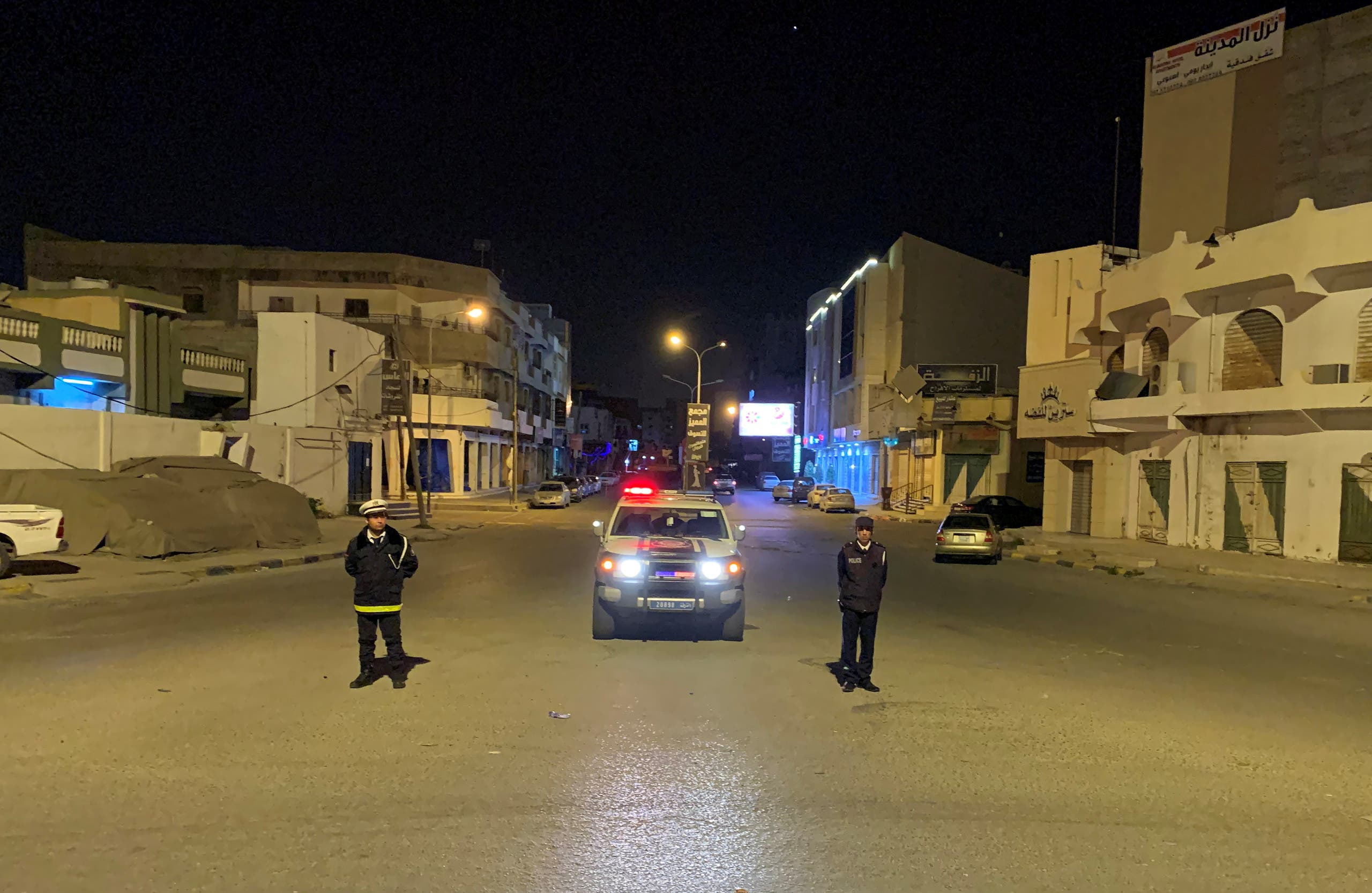 Coronavirus curfew in Misrata, Libya, March 22. (Reuters)