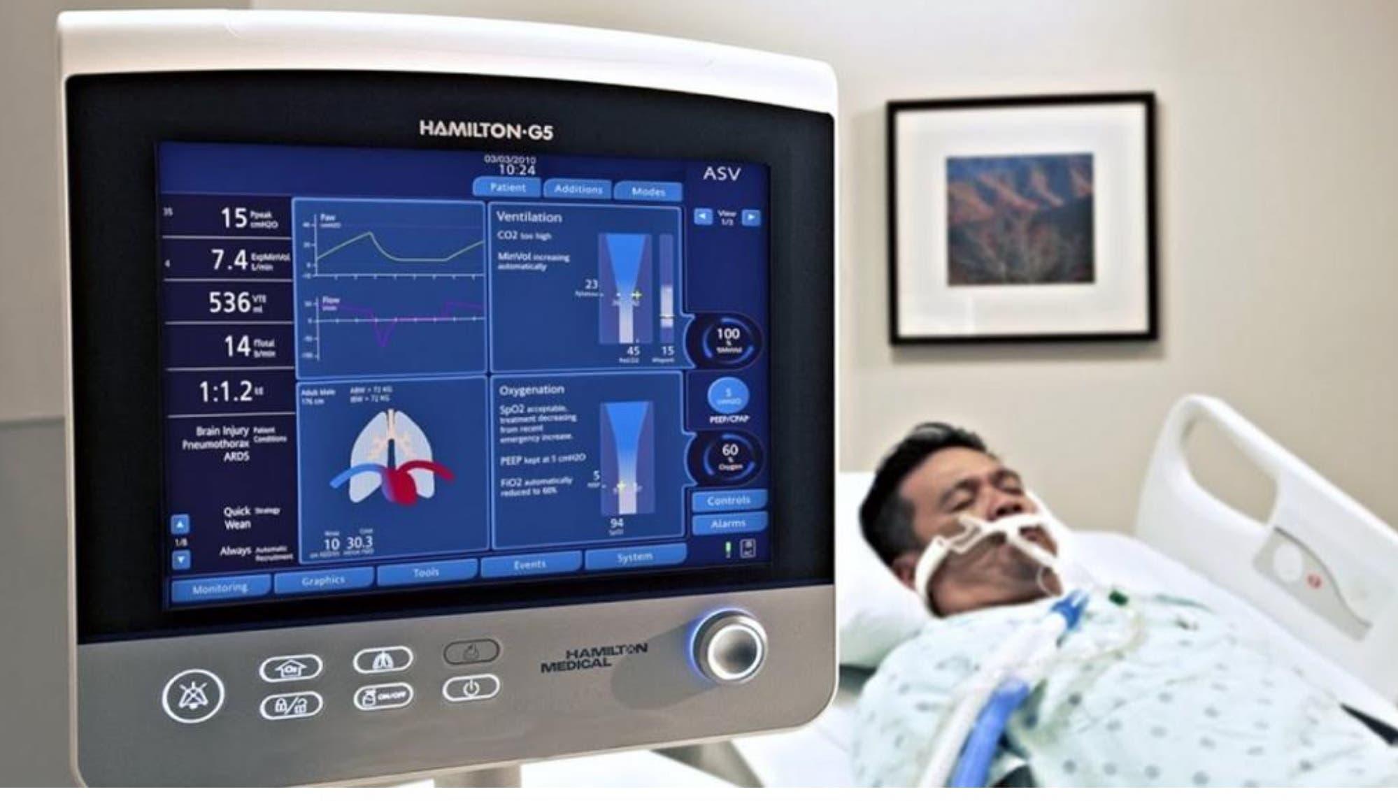 جهاز تنفس صناعي