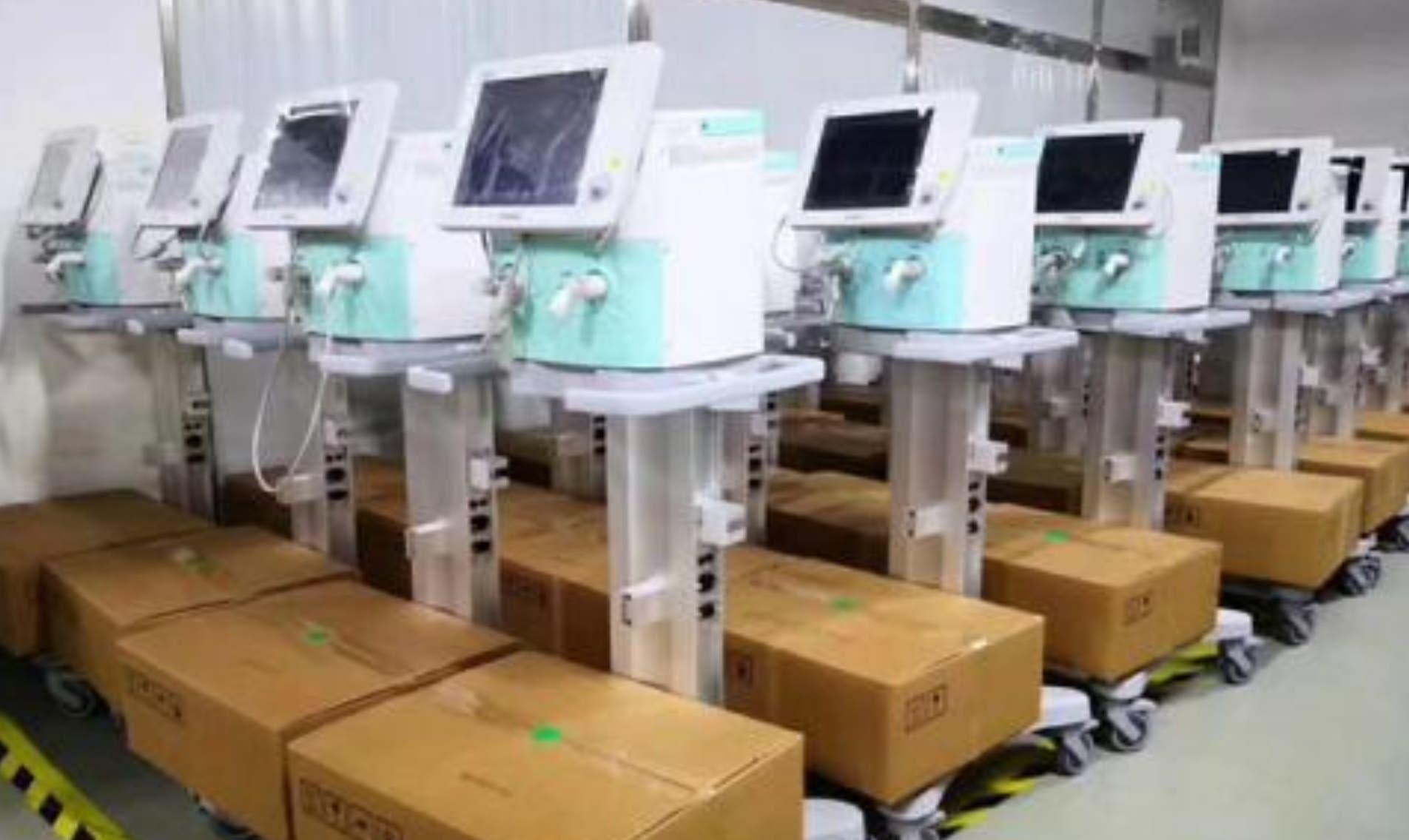 أجهزة تنفس صناعي معدة للشحن