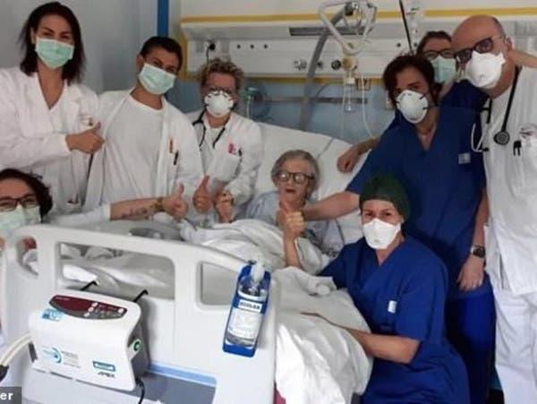 إيطالية عمرها 95 عاماً تتعافى من كورونا