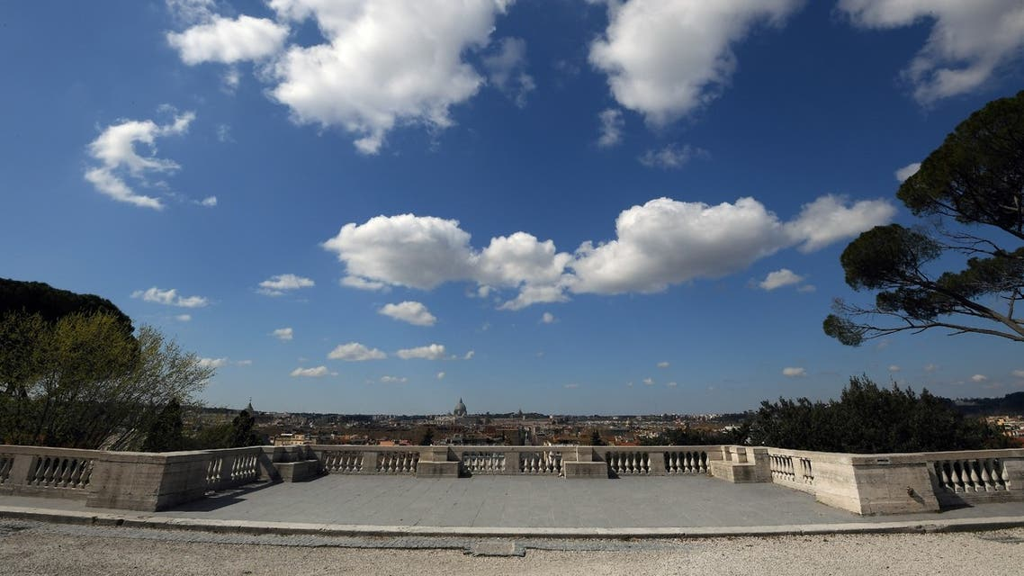 Pincio terrace is seen empty as Italy tightens measures to try and contain the spread of coronavirus disease, in Rome, Italy March 24, 2020. (Reuters)