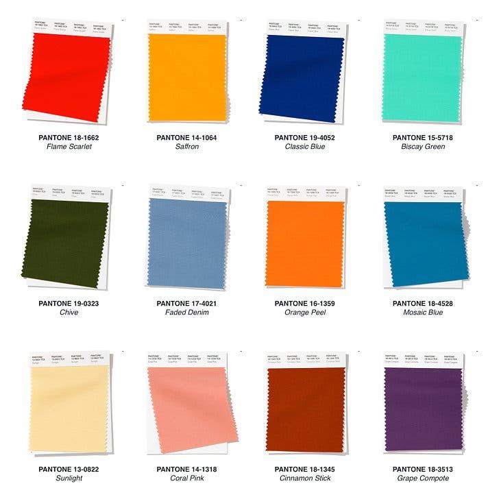 جدول بانتون لألوان ربيع وصيف 2020