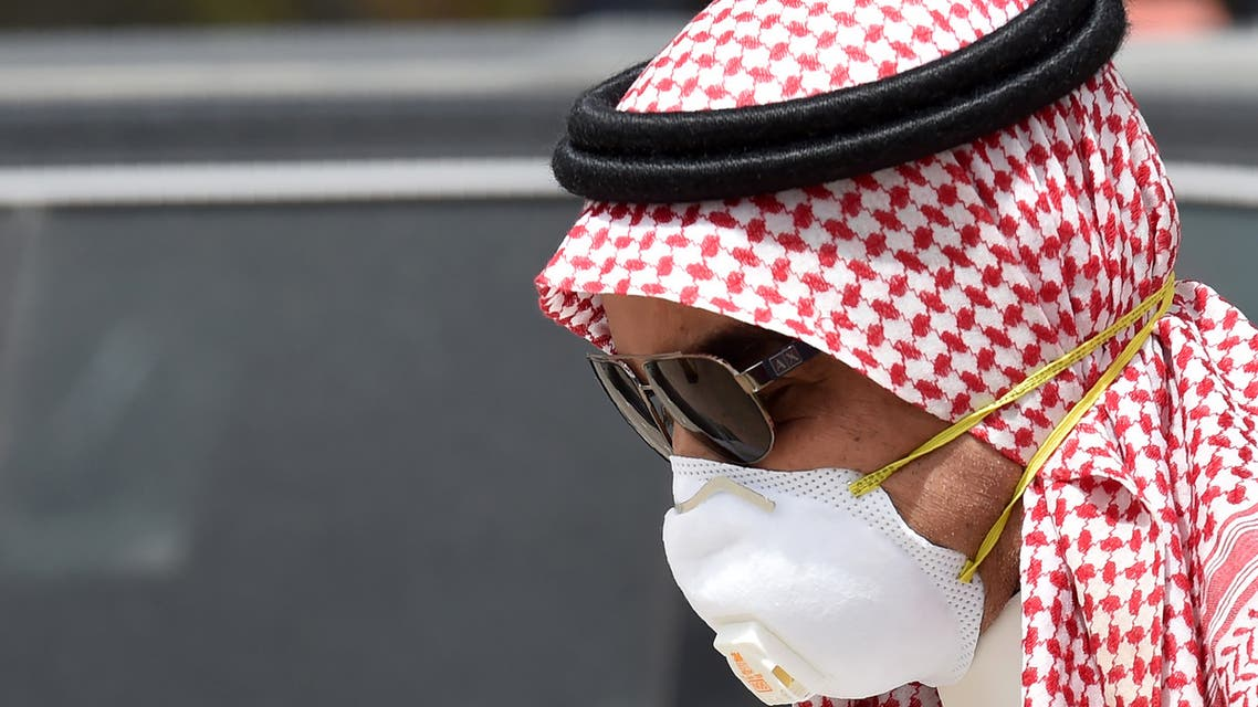 A Saudi man wearing a protective mask as a precaution against COVID-19 coronavirus disease in Riyadh on March 15, 2020. (AFP)