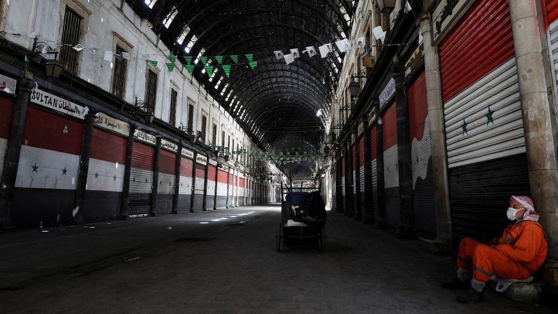 Syria curfew coronavirus-Reuters