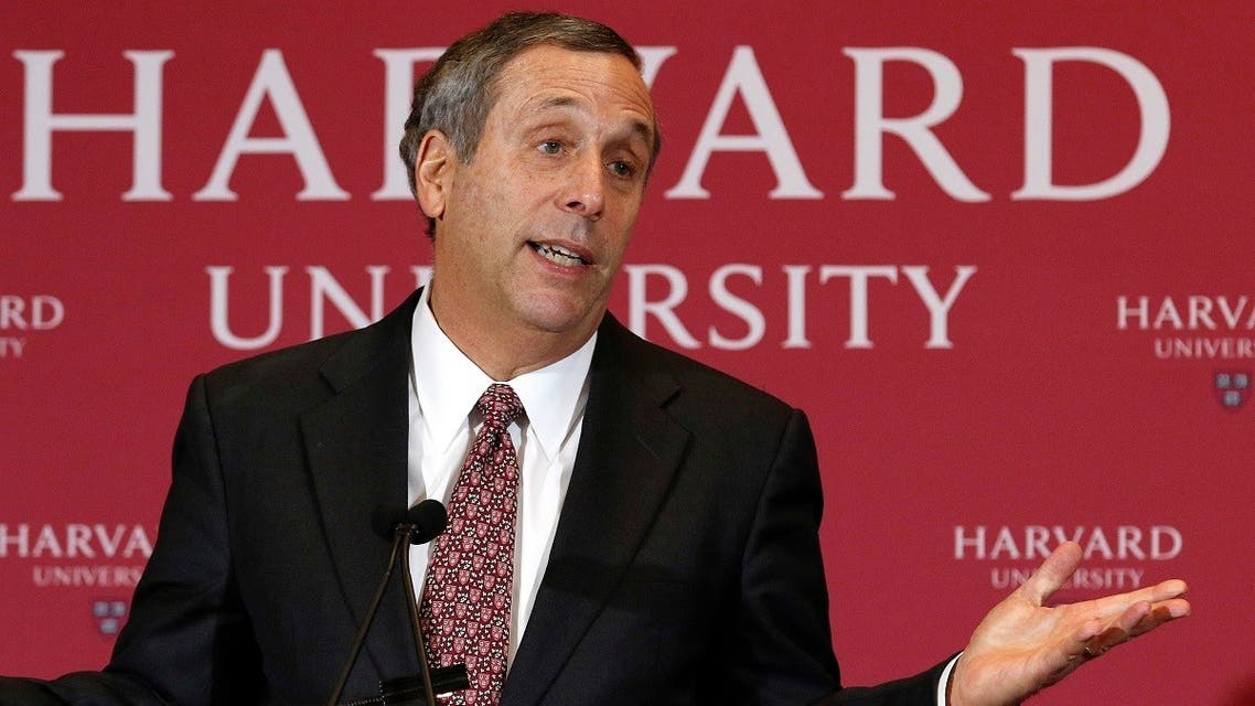 In this Feb. 11, 2018 file photo, Lawrence Bacow speaks after being introduced as the 29th president of Harvard University in Cambridge, Mass. (File photo: AP)