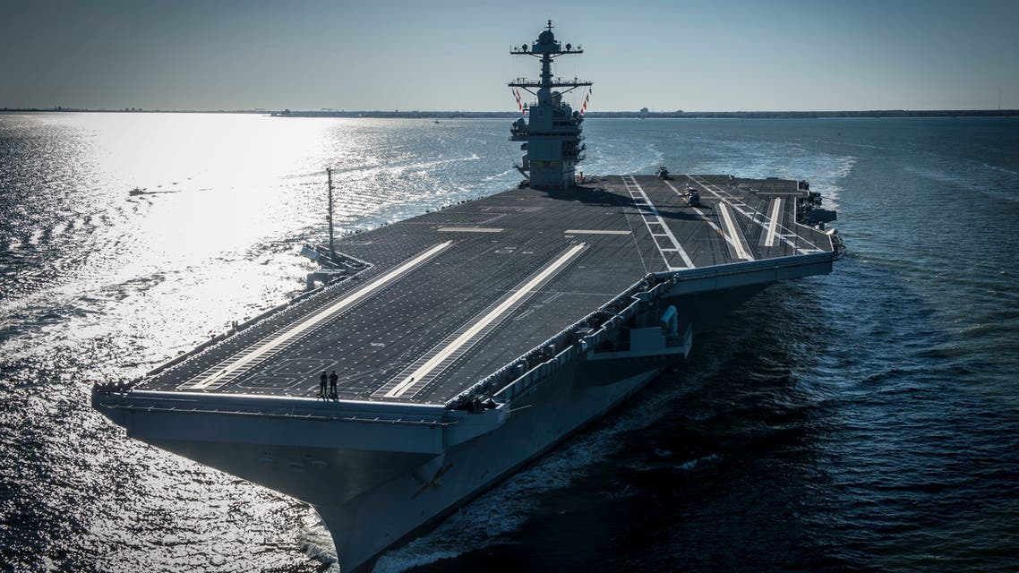 The USS Gerald R. Ford, a US Navy aircraft carrier. (File photo: US Navy/AP)