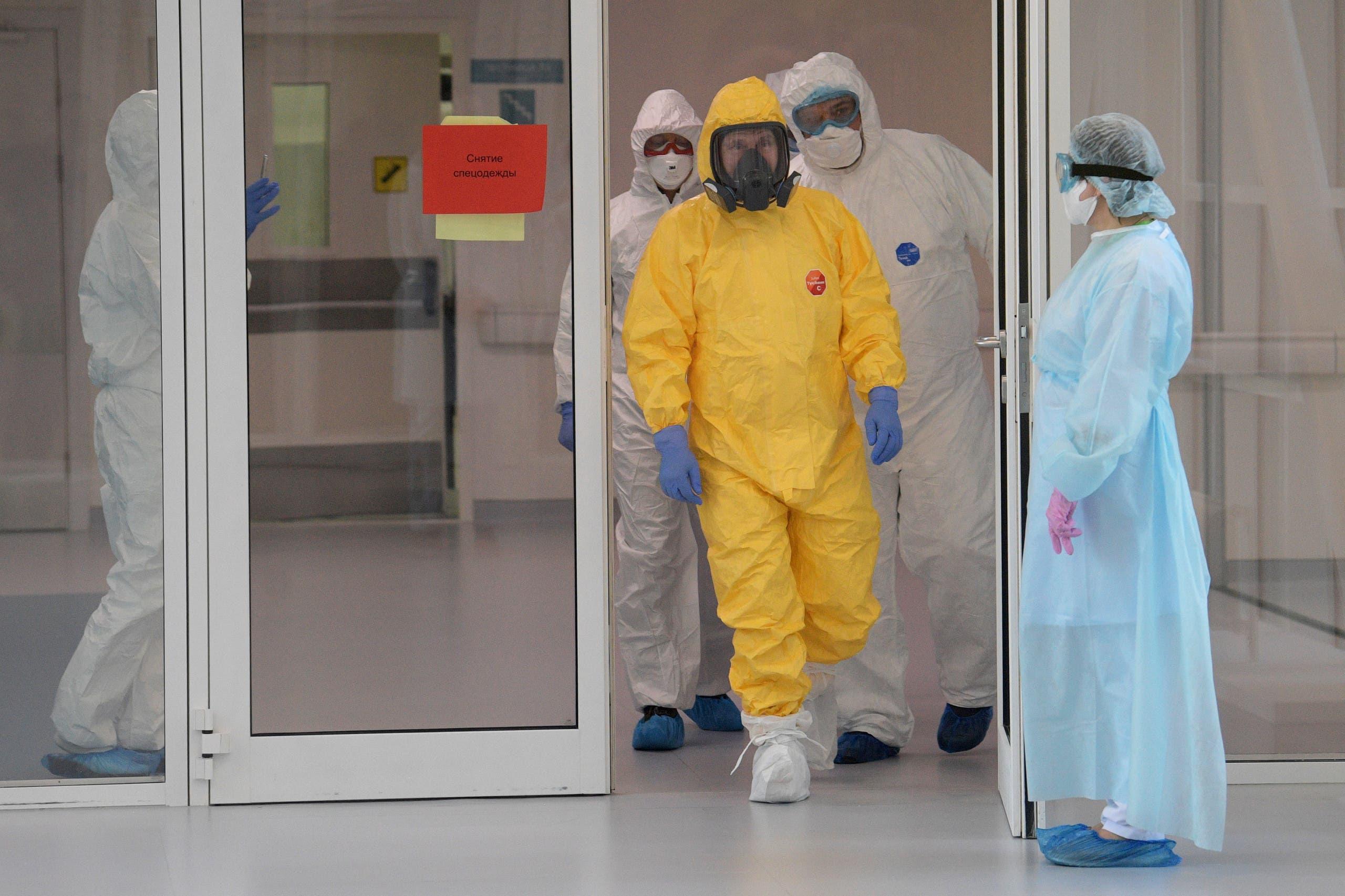بوتين يزور المستشفى حيث يعالج مصابو كورونا في موسكو