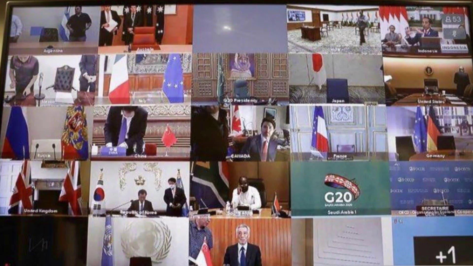 Screen grab of the virtual summit.