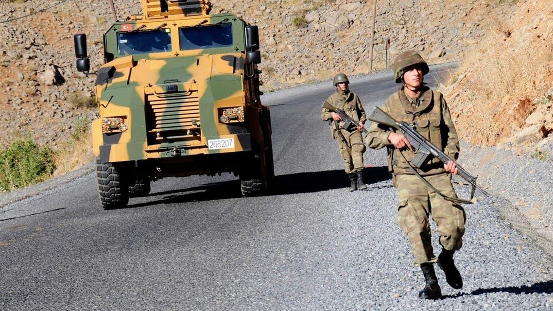 Turkish soldiers near Cukurca in the Hakkari province near the Turkish-Iraqi border